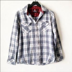 Quicksilver | Flannel Plaid Long Sleeve Button Up